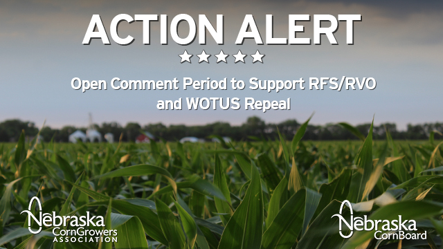 Open Comment Period for RFS/RVO and WOTUS Repeal