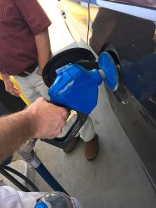 Filling up a tank with American Ethanol