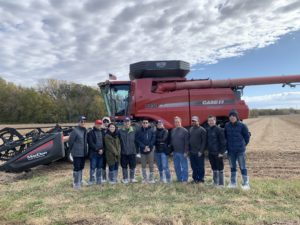 While in Nebraska, the trade team visited Nerud Farms to experience corn and soybean harvests and learn about crop progress and conditions.