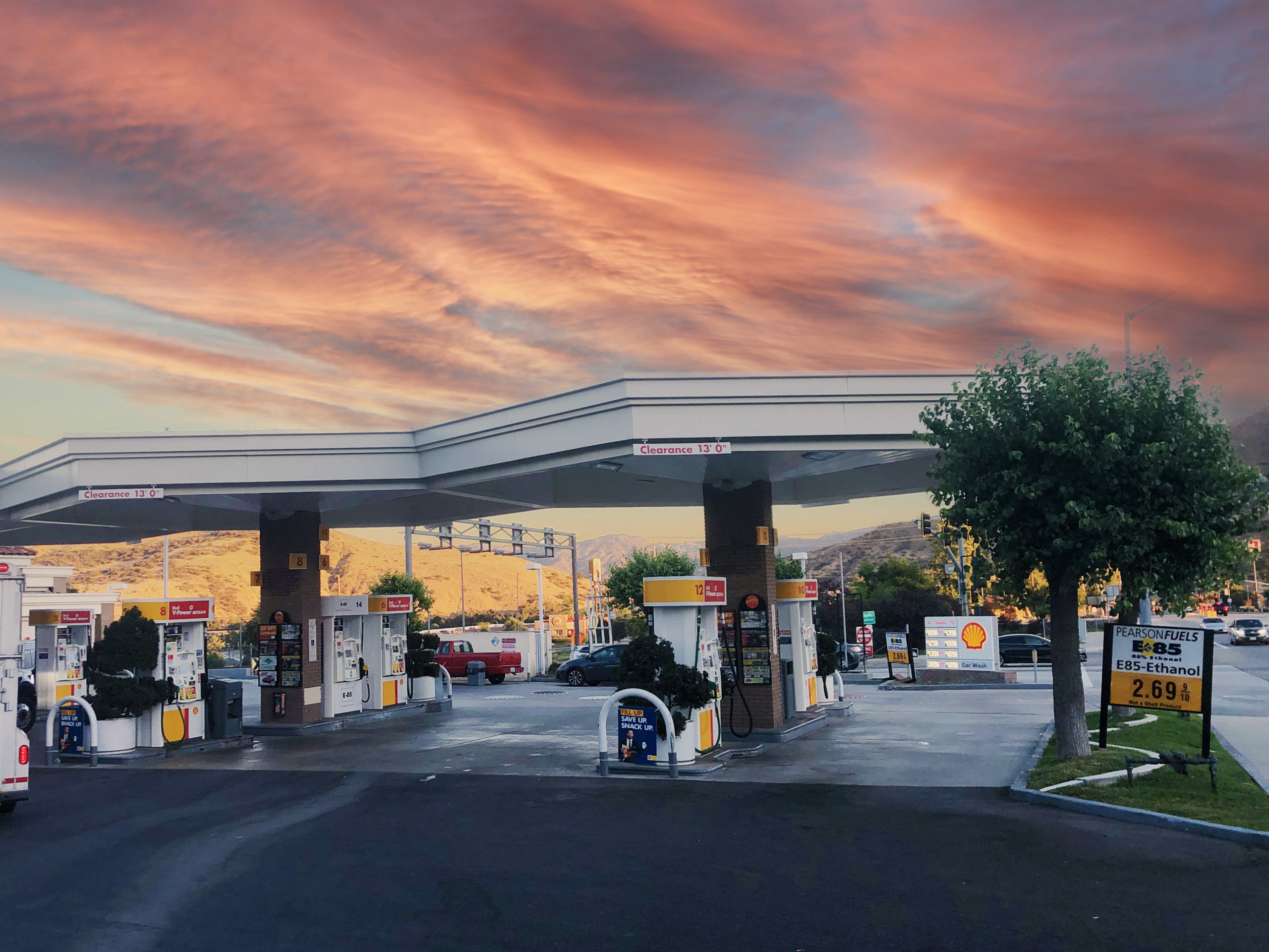 Fuel station in Agoura Hills, California